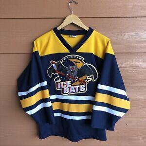 Vintage 90s OT Austin Ice bats WPHL CHL Jersey Size Youth  Large RARE Retired