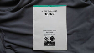 Sony TC 377 Original Bedienungsanleitung