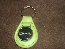 1960's 1970's FORD BRONCO SCRIPT LOGO VINTAGE LEATHER KEYCHAIN KEYRING NEW GREEN