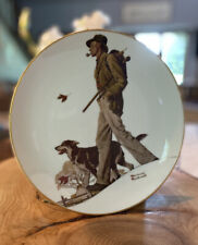 """Vintage Norman Rockwell """"A Walk In The Country"""" Collector Plate,1983,1st Edition"""