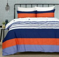Cotton Single Double Queen King Super King size Doona Duvet Quilt Cover Set