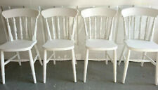 NEW Painted Spindle Back Farmhouse Country Kitchen Dining Chairs in White