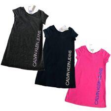 NWT Calvin Klein Jeans Girl's Logo Dress CK Black Grey Pink 4,5,6,6X
