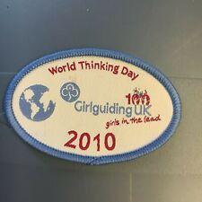 World Thinking Day 2010 Badge - Girlguiding