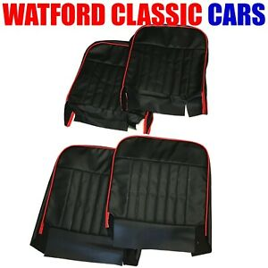 Classic Mini Front Seat Cover set RED