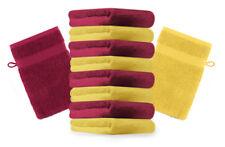 Betz lot de 10 gants de toilette Premium: jaune & rouge foncé, 16 x 21 cm, coton