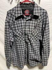 West Coast Choppers Mens XL Shirt Pearl Snap Jesse James Work Wear Plaid