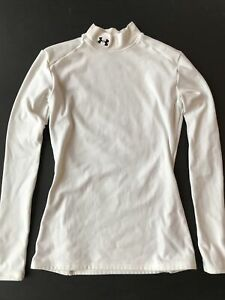 Under Armour Womens Medium Fitted Mock Turtleneck Base Layer Compression Shirt