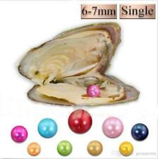 10pcs Freshwater Oysters Each With 6-7mm Natural Pearl (Vacuum Sealed) USA*