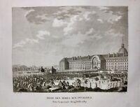 Place des Invalides 14 Juillet 1789 Paris Révolution Française Rare Gravure