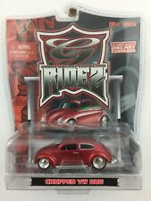 Maisto G Ridez Chopped Volkswagen VW Bug Beetle Red Die Cast 1/64 Rubber Tires