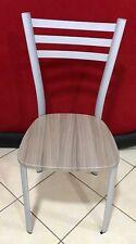 Sedia da cucina,bar ristorante un metallo con seduta in legno larice mod.eliss