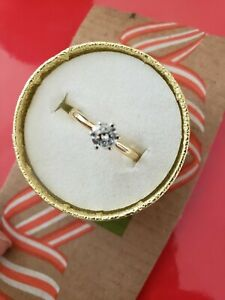 .50ct carat Round Diamond Solitare Engagement Ring 18k yellow Gold Size 8 🌺💐❤❤