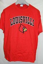 Mens Louisville Cardinals Basketball Red Cotton T-shirt 2XL New Agenda by Perrin