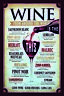 Wine from around the world Blechschild Schild gewölbt Tin Sign 20 x 30 cm CC0861