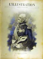 Original Old Antique Print 1895 Portrait Marshall Canrobert Military French 19th