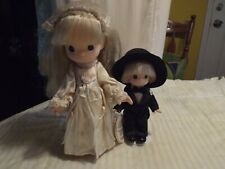 Rare Precious Moments Bride Doll ( Rose Art Bridal) -1998 & Blonde Groom- 2002