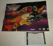 NFL Blitz 2000 Nintendo 64 Poster & Registration Card N64 Nice Shape
