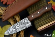Custom Damascus Steel Chef Knife Handmade With Walnut Handle (Z349-A)