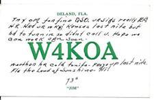 QSL 1947 Deland FL    radio  card