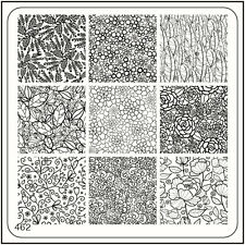 MoYou Square Stamping Art Image Plate 462 Vintage Style Flowers Manicure Stencil