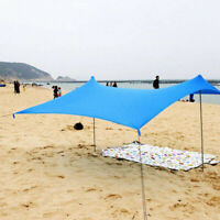 Outdoor Sun Shelter Tent Ground Stakes Ropes For BBQ Party Beach w/ Carring Bag