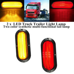 74LED Stop Flow Turn Signal Brake Rear Tail Lamp Truck Trailer Light Indicator