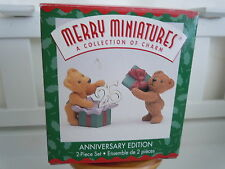 Hallmark Merry Miniature 25Th Anniversary Edition 2 Pc Set Figures Nib 1999