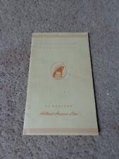 Vintage Holland-America Line S.S. Maasdam List Of Passengers 1952 Rotterdam - NY