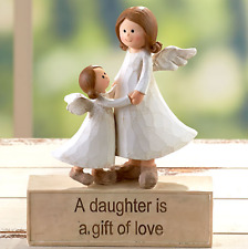 Gift Idea For Daughter Cute Angel Statue Figurine Gift of Love Message Ceramic