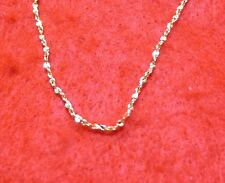 7 Inch 1mm Twisted Nugget Chains Wholesale Lot Of 50 14Kt Gold Plated