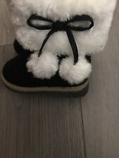 Black Leather Baby Ugg Boots Size 18
