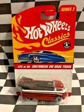 Hot Wheels Classics Series 2  #25 Customized VW Drag Truck Red 5sp_ww