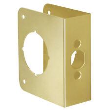"""HICKORY Hardware 2061-PB 1-3/4"""" Door Guard Reinforcer 4.5"""" Polished SOLID BRASS"""