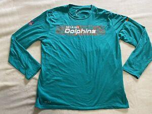 Miami Dolphins Nike Long Sleeves T-Shirt, Men Size XL