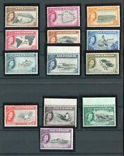 Ascension QEII 1956 set of 13 SG57/69 MNH