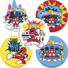 Power Rangers Stickers x 5 - Birthday Party - Favours - Power Rangers Loot Bags