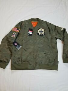 Nike Women's New Orleans Saints Salute to Service 2019 Jacket AT7879-222 Size L