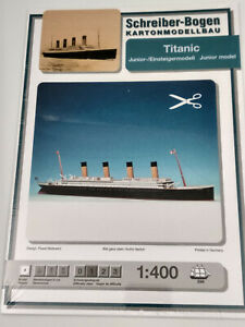 Le Titanic maquette a monter en carton version junior facile longueur 67cm neuf