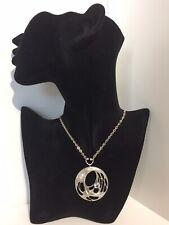 Vintage Sten & LAINE Collar de plata y cristal de roca