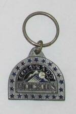 Colorado ROCKIES Metal Baseball KEY CHAIN Ring Keychain