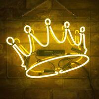 "15""x11""Crown Neon Sign Light Party Bar Pub Visual Artwork Display Room Decor LED"