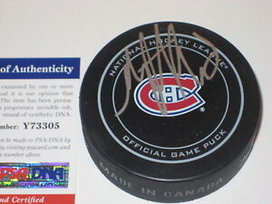 MAX PACIORETTY (Montreal Canadiens) Signed Official Game Puck w/ PSA COA