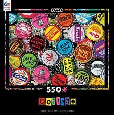 CEACO COLLAGE SERIES JIGSAW PUZZLE BOTTLE CAPS 550 PCS #2328-2