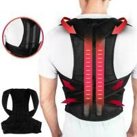 Back Posture Magnetic Shoulder Corrector Support Brace Therapy Belt Unisex G7G1