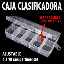 Caja clasificador 4 a 10 compartimentos. Modulable / Ajustable. Nueva !!