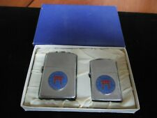 2 x Vintage Usn Yokosuka Japan Cpo Club Cigarette Lighters by Tradeship Mib Nos