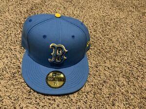 Boston Red Sox City Connect New Era Hat Men's Size: 7 3/4 2021 Light Blue/Yellow