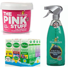 Mrs Hinch Cleaning Bundle The Pink Stuff Zoflora Stardrops 3 Piece
