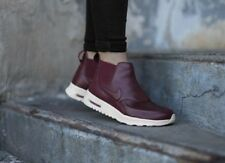 WMNS NIKE Leather Boot AIR MAX THEA MID 859550-600, UK 4.5 EUR 38, Night Maroon